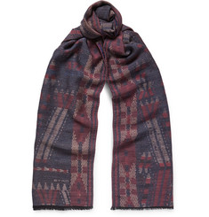 Etro - Patterned Wool and Silk-Blend Scarf