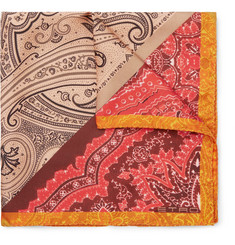 Etro - Paisley-Print Silk-Twill Pocket Square