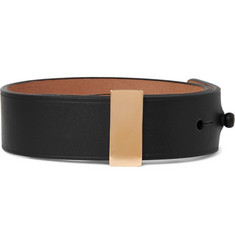 Lanvin Leather and Gold-Tone Bracelet