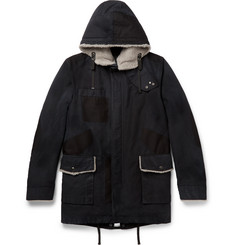 Lanvin Shearling-Trimmed Cotton Parka