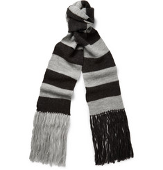 Lanvin Striped Merino Wool Scarf