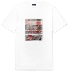 Lanvin Jacquard-Panelled Cotton-Jersey T-Shirt