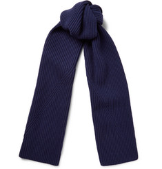 Lanvin Ribbed Wool Scarf