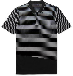 Lanvin Slim-Fit Striped Cotton-Piqué Polo Shirt