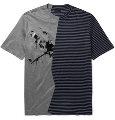Lanvin Panelled Cotton-Jersey T-Shirt