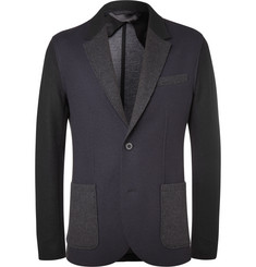 Lanvin Navy Slim-Fit Virgin Wool-Blend Blazer