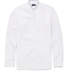 Lanvin - Mandarin-Collar Slim-Fit Cotton-Poplin Shirt