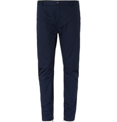 Lanvin Tapered Cotton-Twill Biker Trousers