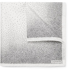 Lanvin Speckled Silk Pocket Square