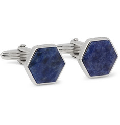 Lanvin - Rhodium-Plated Sodalite Cufflinks