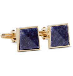 Lanvin Gold-Plated Sodalite Cufflinks