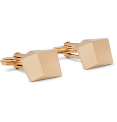 Lanvin Brushed Gold-Tone Cufflinks