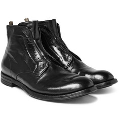 Officine Creative - Anatomia Polished-Leather Derby Boots