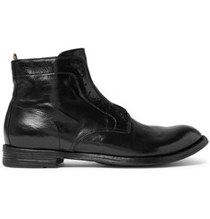 Officine Creative Anatomia Polished-Leather Derby Boots