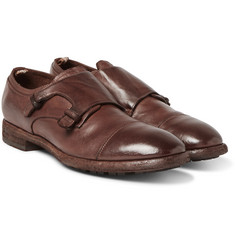Officine Creative - Princeton Grained-Leather Monk-Strap Shoes