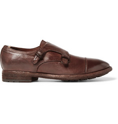 Officine Creative Princeton Grained-Leather Monk-Strap Shoes