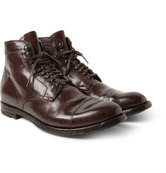Officine Creative - Anatomia Glossed-Leather Boots