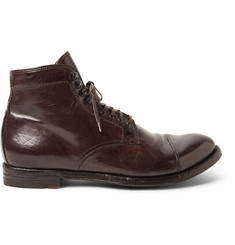 Officine Creative Anatomia Polished-Leather Boots