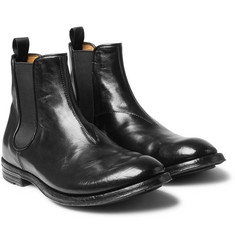 Officine Creative - Anatomia Glossed-Leather Chelsea Boots