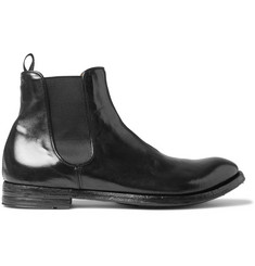 Officine Creative Anatomia Glossed-Leather Chelsea Boots