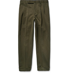 Paul Smith Tapered Cotton and Linen-Blend Twill Chinos