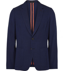 Paul Smith Blue Soho Slim-Fit Knitted Wool Blazer