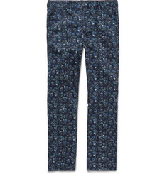 Paul Smith Slim-Fit Floral-Print Stretch-Cotton Trousers