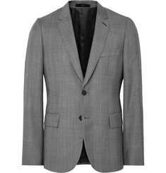 Paul Smith Grey Soho Slim-Fit Checked Wool Suit Jacket