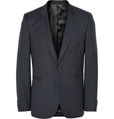 Paul Smith Navy Slim-Fit Pinstriped Wool Suit Jacket