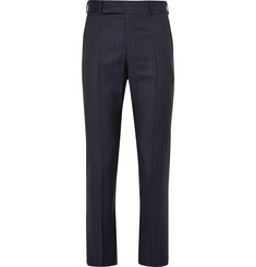 Paul Smith Navy Slim-Fit Pinstriped Wool Suit Trousers