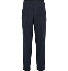 Paul Smith Slim-Fit Cotton and Wool-Blend Seersucker Trousers