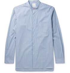 Paul Smith - Grandad-Collar Striped Cotton Shirt