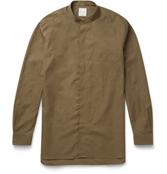 Paul Smith - Slim-Fit Grandad-Collar Cotton-Poplin Shirt