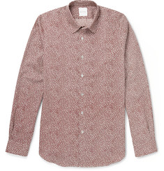 Paul Smith Slim-Fit Lip-Print Cotton Shirt