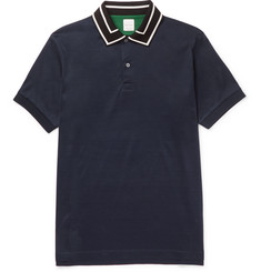 Paul Smith Slim-Fit Stripe-Trimmed Cotton Polo Shirt