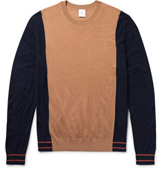 Paul Smith Colour-Block Merino Wool and Silk-Blend Sweater