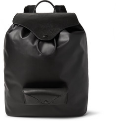 Maison Margiela Leather-Trimmed Coated-Canvas Backpack