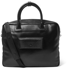 Maison Margiela Leather-Trimmed Coated Canvas Briefcase