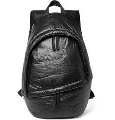 Maison Margiela - Leather-Trimmed Coated-Shell Backpack
