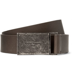 Maison Margiela 3cm Grey Leather Belt
