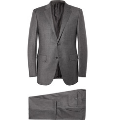 Ermenegildo Zegna Grey Slim-Fit Trofeo Wool and Cashmere-Blend Suit