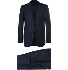 Ermenegildo Zegna Blue Slim-Fit Checked Wool Suit