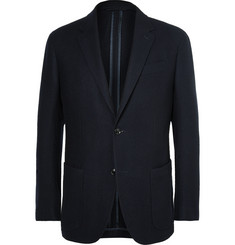 Ermenegildo Zegna Blue Slim-Fit Wool and Cashmere-Blend Blazer