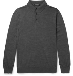 Ermenegildo Zegna Slim-Fit Merino Wool Polo Shirt