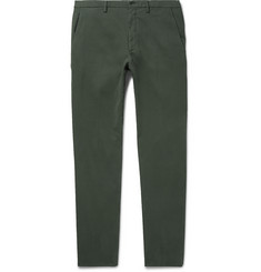 Ermenegildo Zegna Slim-Fit Garment-Washed Stretch-Cotton Trousers