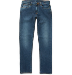 Ermenegildo Zegna - Slim-Fit Garment-Washed Stretch-Denim Jeans