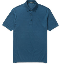 Ermenegildo Zegna Slim-Fit Cotton-Piqué Polo Shirt