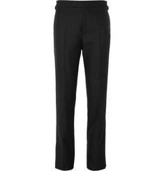Kingsman Black Harry Slim-Fit Wool and Mohair-Blend Tuxedo Trousers