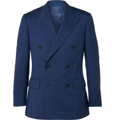 Kingsman Blue Harry Slim-Fit Double-Breasted Wool Suit Jacket