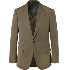 Kingsman Khaki Eggsy Slim-Fit Cotton Suit Jacket